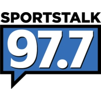 Logo of radio station KNBB Sports Talk 97.7