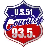 Logo of radio station WKBQ U.S. 51 Country