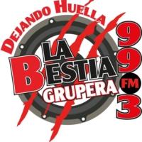 Logo of radio station XHAFA La Bestia Grupera 99.3 FM