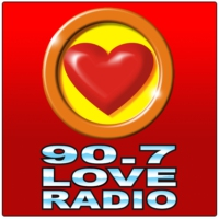 Logo of radio station 90.7 Love Radio