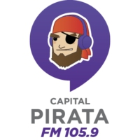 Logo of radio station Pirata FM Vallarta 105.9 FM