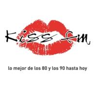 Logo of radio station KISS FM