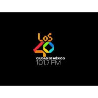 Logo of radio station XEX-FM LOS40 101.7