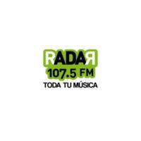 Logo of radio station XHQRO Radar 107.5 FM