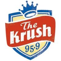 Logo de la radio KRSH The Krush 95.9