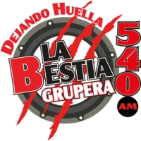 Logo of radio station XEWF La Bestia Grupera 540 AM