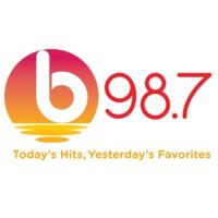 Logo of radio station b98.7 FM