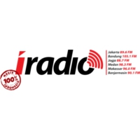 Logo of radio station 105.1 FM I-RADIO BANDUNG