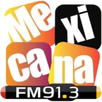 Logo of radio station XHPLA La Mexicana 91.3 FM