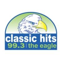 Logo of radio station KWIC 99.3 The Eagle