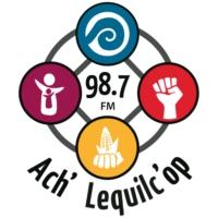 Logo of radio station XHBAK Radio Ach' Lequilc' Op 98.7 FM