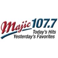 Logo of radio station KMAJ Majic 107.7