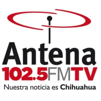 Logo of radio station XHES Antena 102.5 FM