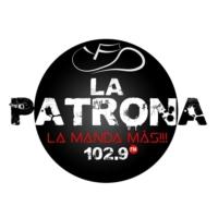Logo of radio station La Patrona FM