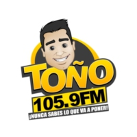 Logo of radio station XHIQ-FM Toño FM 105.9