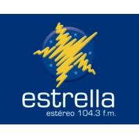 Logo de la radio Estrella Estéreo 104.3 fm