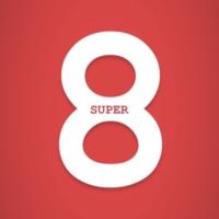 Logo of radio station Super 8, la radio décontractée du stream