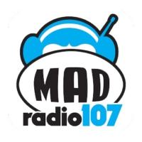 Logo of radio station Mad Radio 107