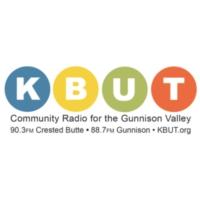 Logo of radio station KBUT