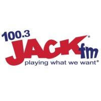 Logo of radio station KJKK Jack 100.3 FM