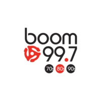 Logo of radio station CJOT-FM boom 99.7