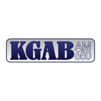 Logo of radio station KGAB 650AM