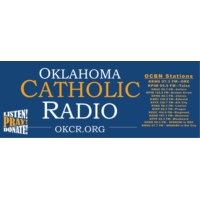 Logo of radio station KKNG-FM Oklahoma Catholic Radio