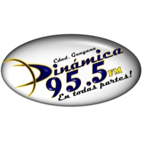 Logo of radio station DINAMICA 95.5 FM
