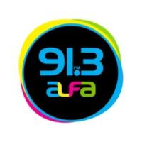 Logo of radio station XHFAJ Alfa 91.3 FM