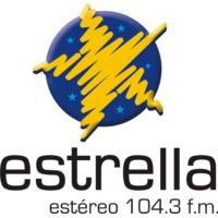 Logo de la radio Estrella Colombia 104.3 FM