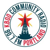 Logo de la radio KBOO 90.7fm