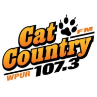 Logo de la radio WPUR Cat Country 107.3