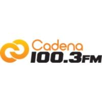 Logo of radio station XHDX Cadena 100.3 FM