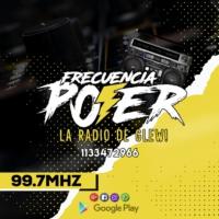 Logo de la radio FRECUENCIA POWER 99.7 FM LA RADIO DE GLEW