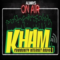 Logo of radio station KHAM