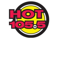 Logo of radio station CKQK-FM Hot 105.5 FM