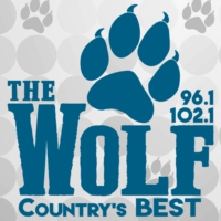 Logo de la radio KWFI-FM 96.1 & 102.1 The Wolf