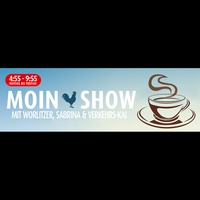 """Logo of show Die """"Moin-Show"""""""