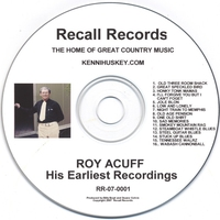 Couverture du titre Roy Acuff: His Earliest Recordings