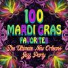 Couverture de l'album 100 Mardi Gras Favorites - The Ultimate New Orleans Jazz Party