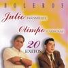 Cover of the album Julio Jaramillo & Olimpo Cardenas: Boleros - 20 Exitos