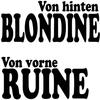 Cover of the album Von hinten Blondine (von vorne Ruine) - Single